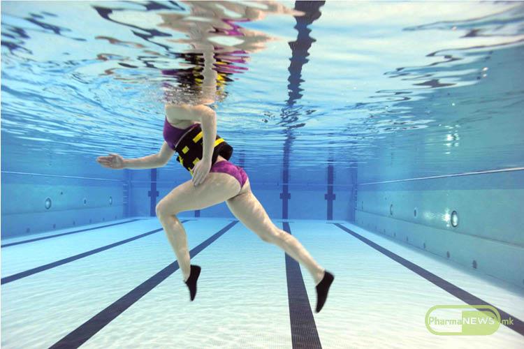 Заменете го вообичаеното трчање со трчање во базен